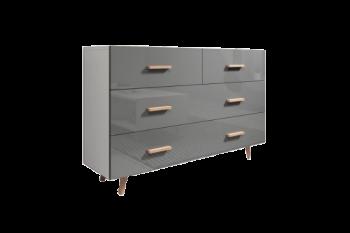 Ladekast Grijs Hoogglans 125 cm breed - Scandinavisch Design