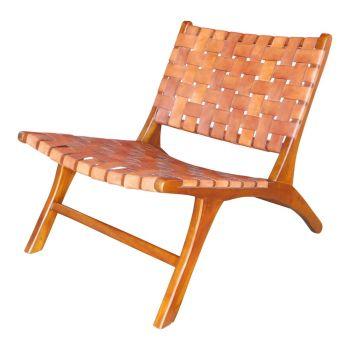 Lounge stoel bruin