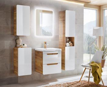Badkamer Meubelset 60 cm Wit Eiken - Brigitte