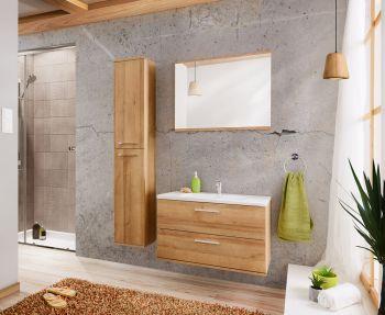 Badkamer Meubelset Eiken Zilver 80 cm - Brechje