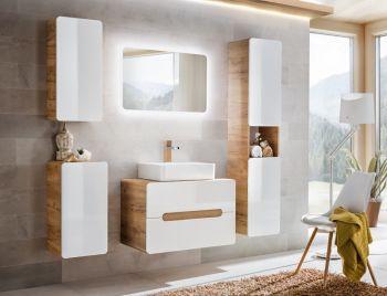 Badkamer Meubelset Waskom 60 cm Wit Eiken - Brigitte