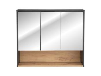 Spiegelkast Badkamer Grijs Eiken 80 cm - Bianca