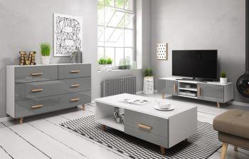 Woonkamer Set Grijs 3 Delige Set  - Scandinavisch Design
