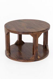 Ronde bijzettafel hout