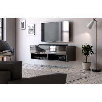 Hangend Tv Meubel Hoogglans Zwart 100 cm