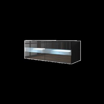 TV Meubel Zwevend zwart 100 cm Modern - LED