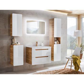 Badkamer Meubelset 80 cm Wit Eiken - Brigitte