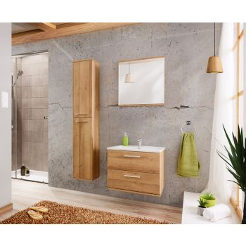 Badkamer Meubelset Eiken Zilver 60 cm - Brechje