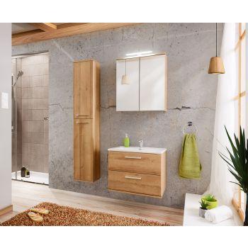 Badkamer Meubelset met Spiegelkast Eiken Zilver 60 cm - Brechje