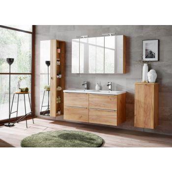 Badkamer Meubelset Spiegel 120 cm Eiken - Brenda