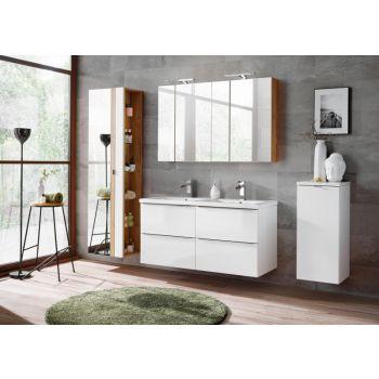 Badkamer Meubelset Spiegel 120 cm Wit - Brenda