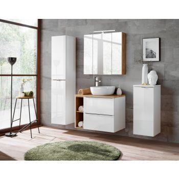 Badkamer Meubelset Spiegel 80 cm Wit - Brenda