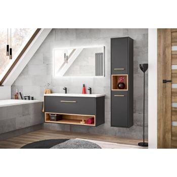 Badkamer Meubelset Grijs Eiken 120 cm - Bianca