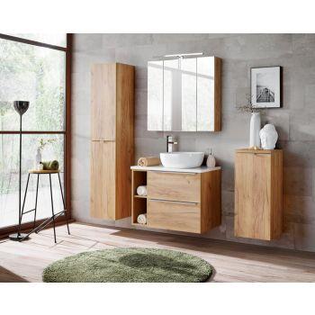 Badkamer Meubelset Spiegel 80 cm Craft Eiken - Brenda