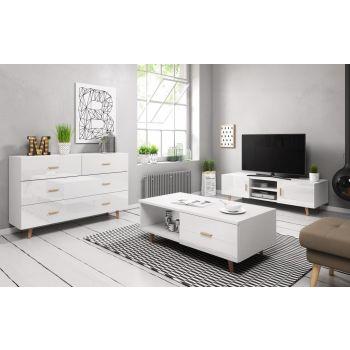 Woonkamer Set Wit 3 delig - Scandinavisch Design