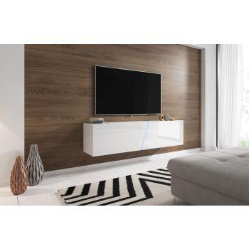 Zwevend Tv Meubel Hoogglans Wit 160 cm