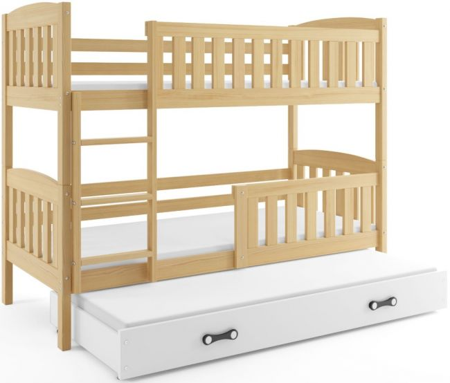 3 Persoons stapelbed hout - ´Triple Life Wood'