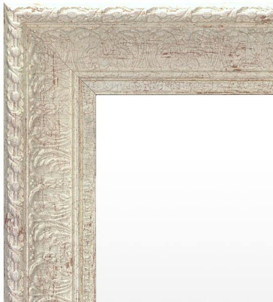 Spiegel Vintage Wit Grijs 72x112 cm - Ronja