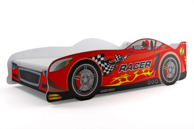 Autobed `Rookie Racer Red 80 x 160 cm