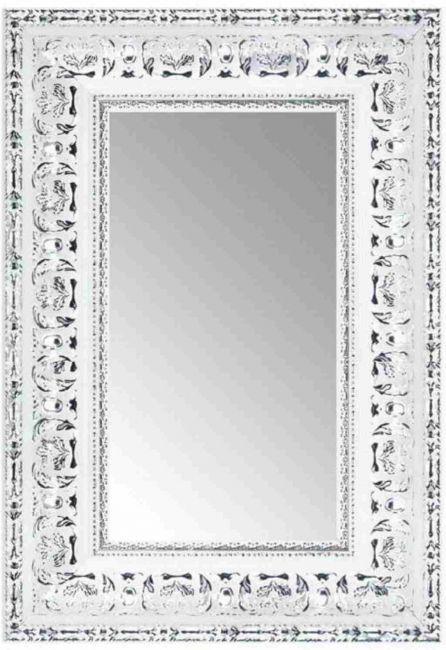 Barok Spiegel Zilver Wit 69x89 cm - Nisha