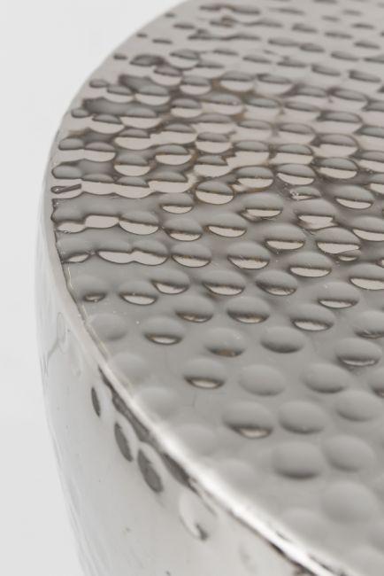 Bijzettafel zilver rond