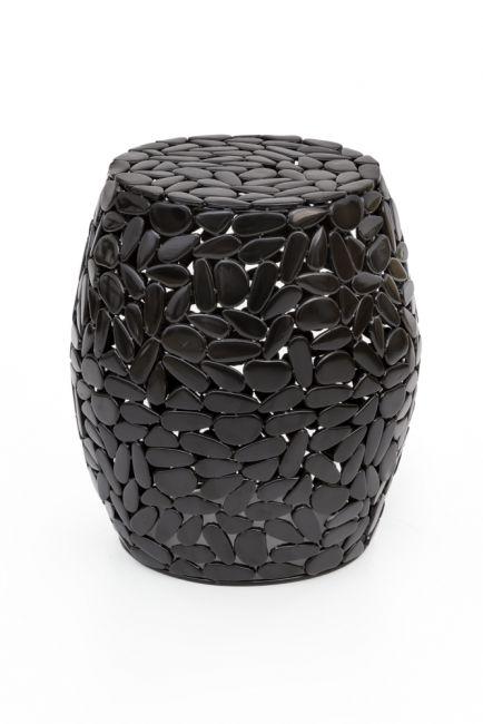 Bijzettafel zwart metaal 40 cm