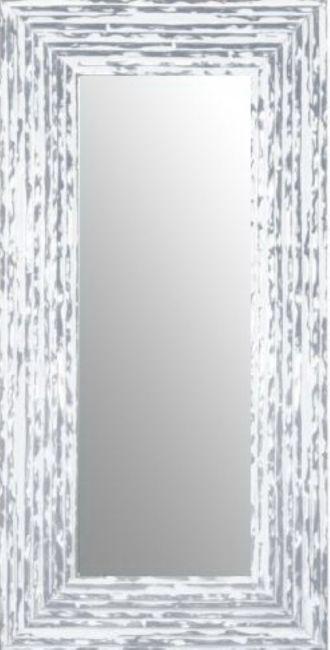 Brocante Spiegel Zilver Wit 75x115 cm - Charly