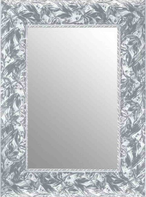 Brocante Spiegel Zilver & Wit 67x87 cm - Louisa