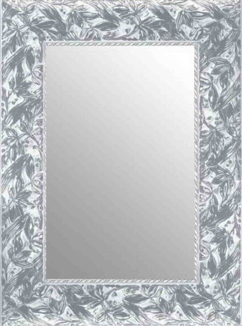 Brocante Spiegel Zilver & Wit 72x112 cm - Louisa