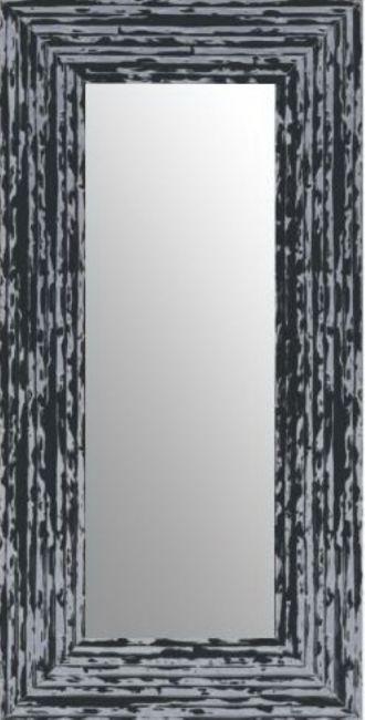 Brocante Spiegel Zwart Zilver 53x103 cm - Charly