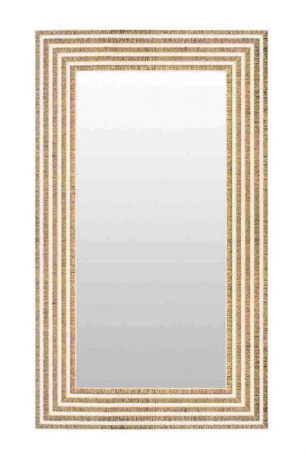 Chique Spiegel Wit Goud 56x146 cm - Svea