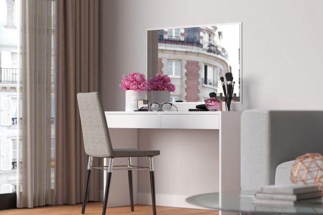 Kaptafel met spiegel wit Princess©