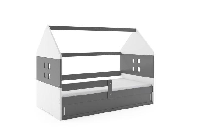 Kinderbed Huisje 80x160 cm - Grijs