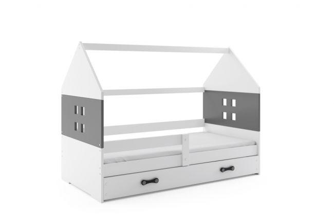 Kinderbed Huisje Wit & Grijs 80x160 cm