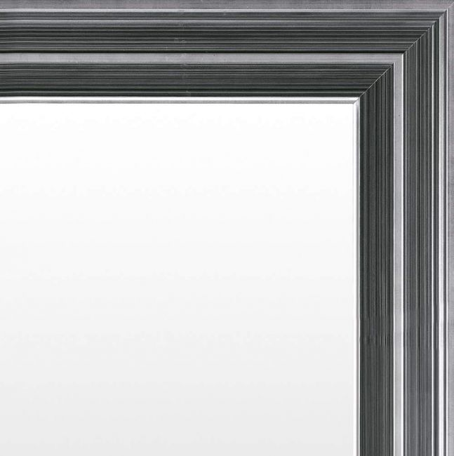 Moderne Spiegel Zwart Zilver 53x143 cm - Gretchen