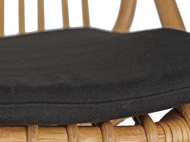 Rotan eetkamerstoel met armleuning