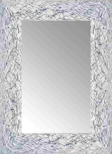 Spiegel Wit & Zilver 54x74 cm - Calla