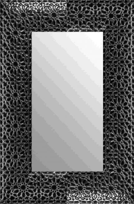 Spiegel Zwart Zilver 77x117 cm - Flora