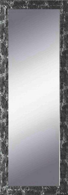 Spiegel Zwart & Zilver 46x96 cm - Eva