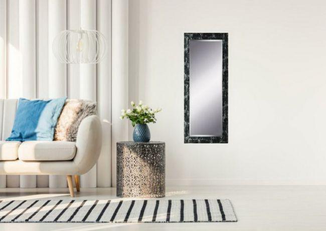 Spiegel Zwart & Zilver 63x163 cm - Eva