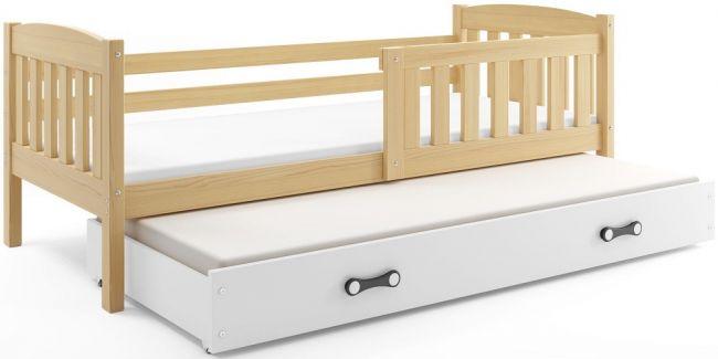 Uitschuifbed hout 90x200
