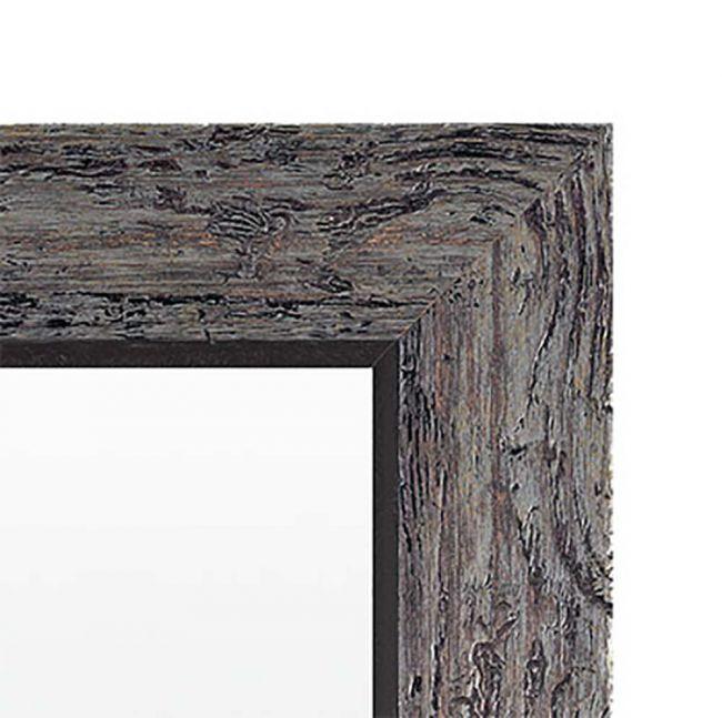 Vintage Spiegel Zwart Zilver 56x76 cm - Marlene
