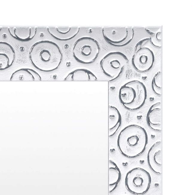Zilver Wit Spiegel 61x151 cm - Zenta
