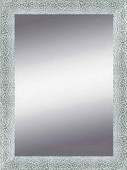 Zilver Witte Spiegel Modern 52x72 cm - Mathilda