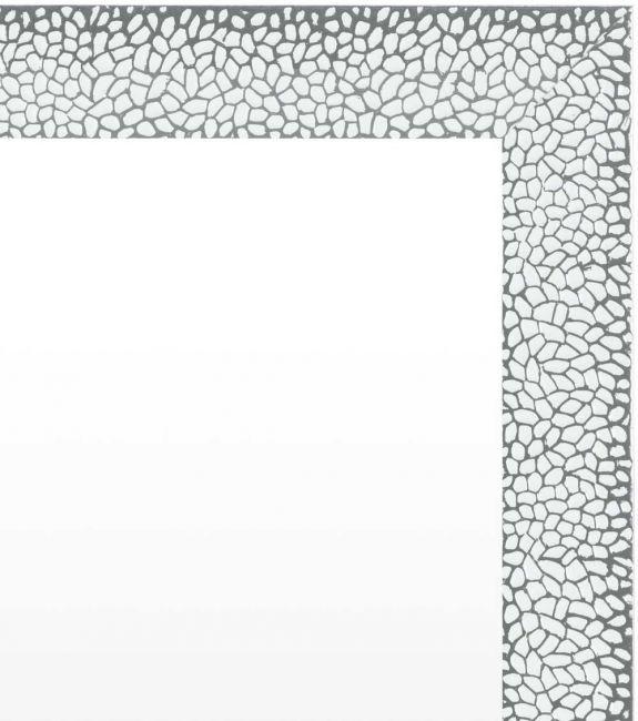 Zilver Witte Spiegel Modern 55x145 cm - Mathilda