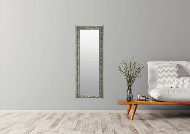 Zilveren Barok Spiegel 46x96 cm - Fee