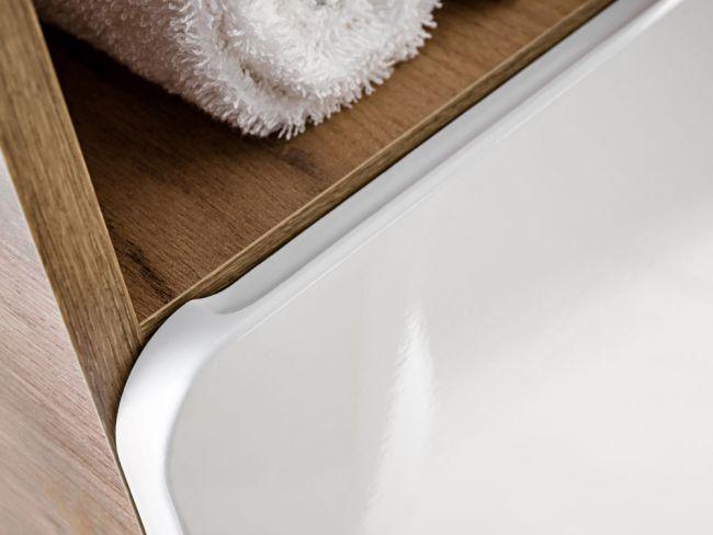 Badkamer Meubelset 7 delig 50 cm Wit Eiken - Brigitte