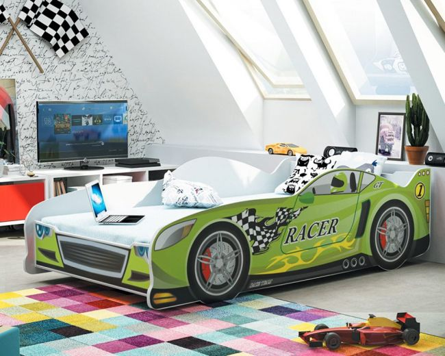 Autobed `Rookie Racer Green´ – 80 x 160 cm