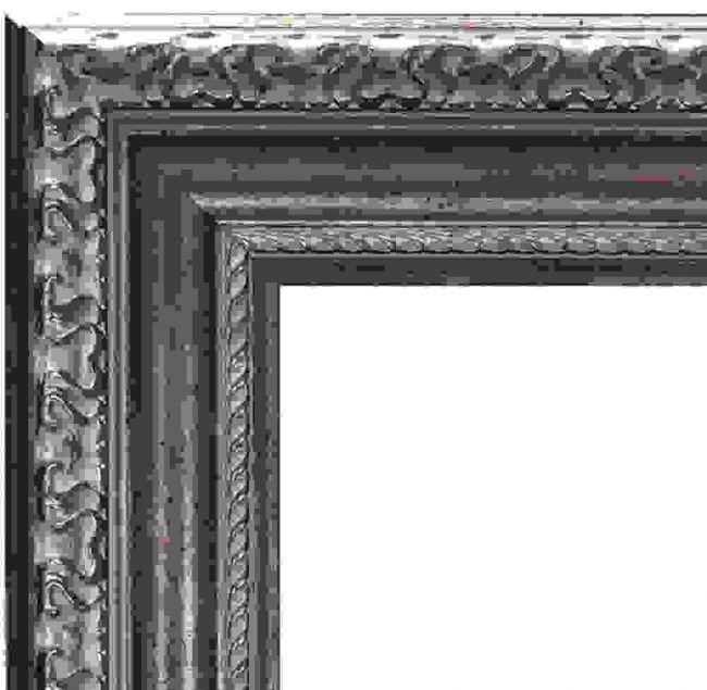 Barok Spiegel Oud Zilver 74x94 cm - Ariane