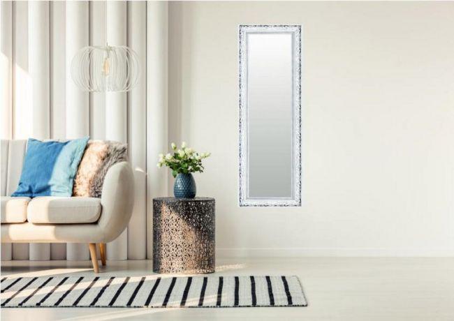 Barok Spiegel Wit Zilver 69x109 cm - Neele